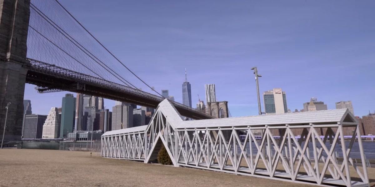Siah Armajani's Bridge Over Tree